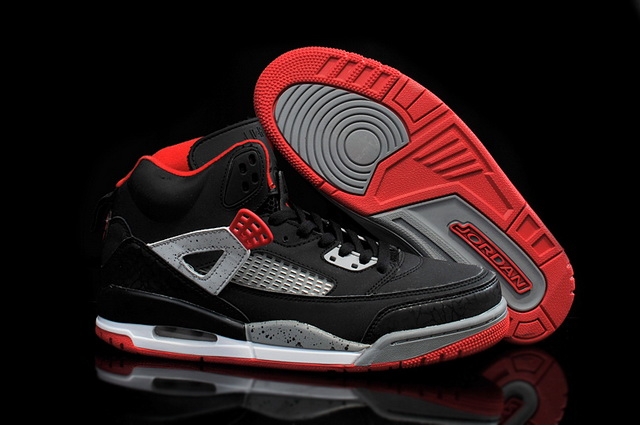 Air Jordan 3.5 Spizike Retro Shoes Black/grey red